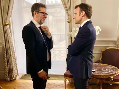 Il 'colpaccio' di Fazio, intervista Macron