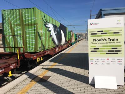 Il 'treno di Noè' arriva in Italia, tappa a Roma