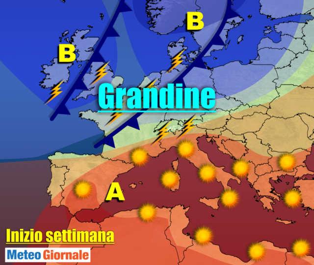 immagine 1 articolo meteo 7 giorni caldo poi temporali con grandine