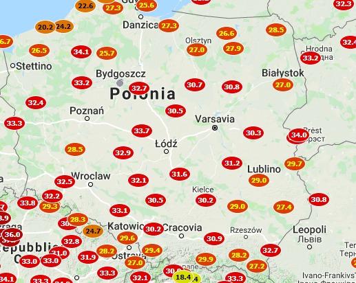 immagine 1 articolo meteo caldo storico in polonia