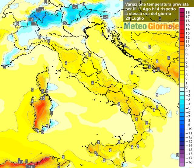 immagine 2 articolo meteo caldo aumento temperature ecco dove saliranno di piu