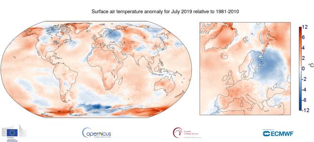 immagine 1 articolo clima luglio 2019 record il piu caldo di sempre battuto il 2016
