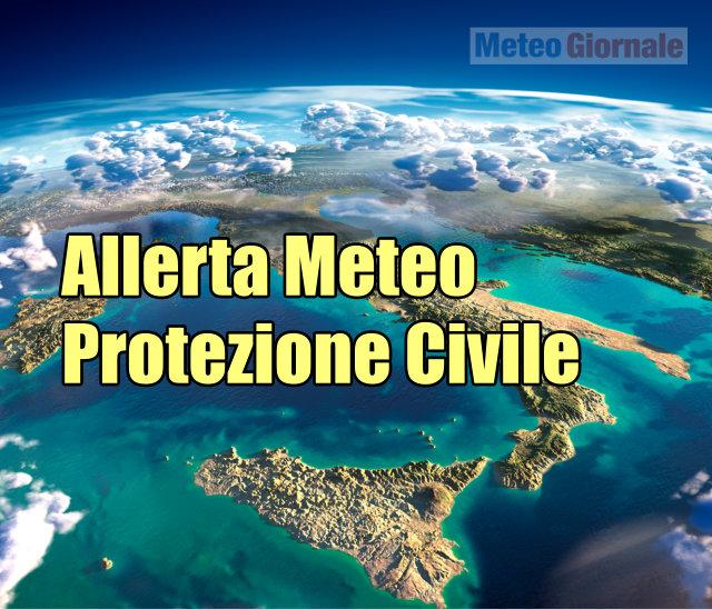 immagine 1 articolo allerta meteo protezione civile per maltempo italia