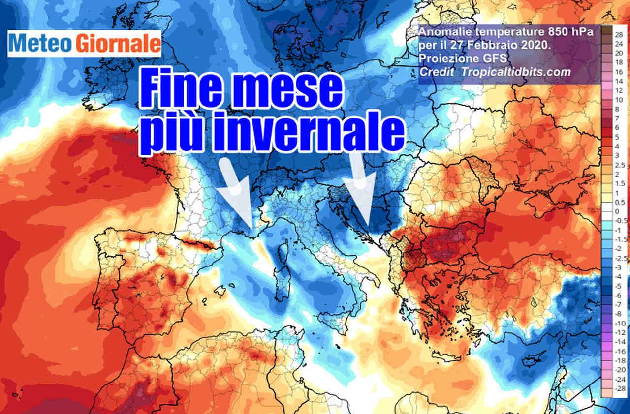 immagine 1 articolo meteo fine febbraio cambia tutto aria polare verso italia