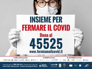 'Insieme per fermare il Covid', raccolti oltre 1,5 milioni di euro