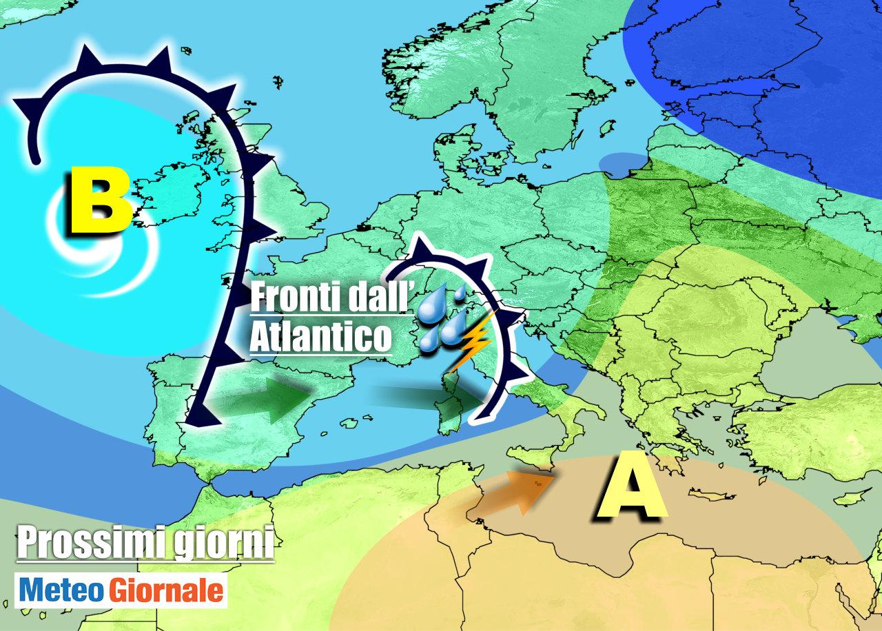 immagine 1 articolo meteo 7 giorni perturbazioni italia maltempo sino primo maggio