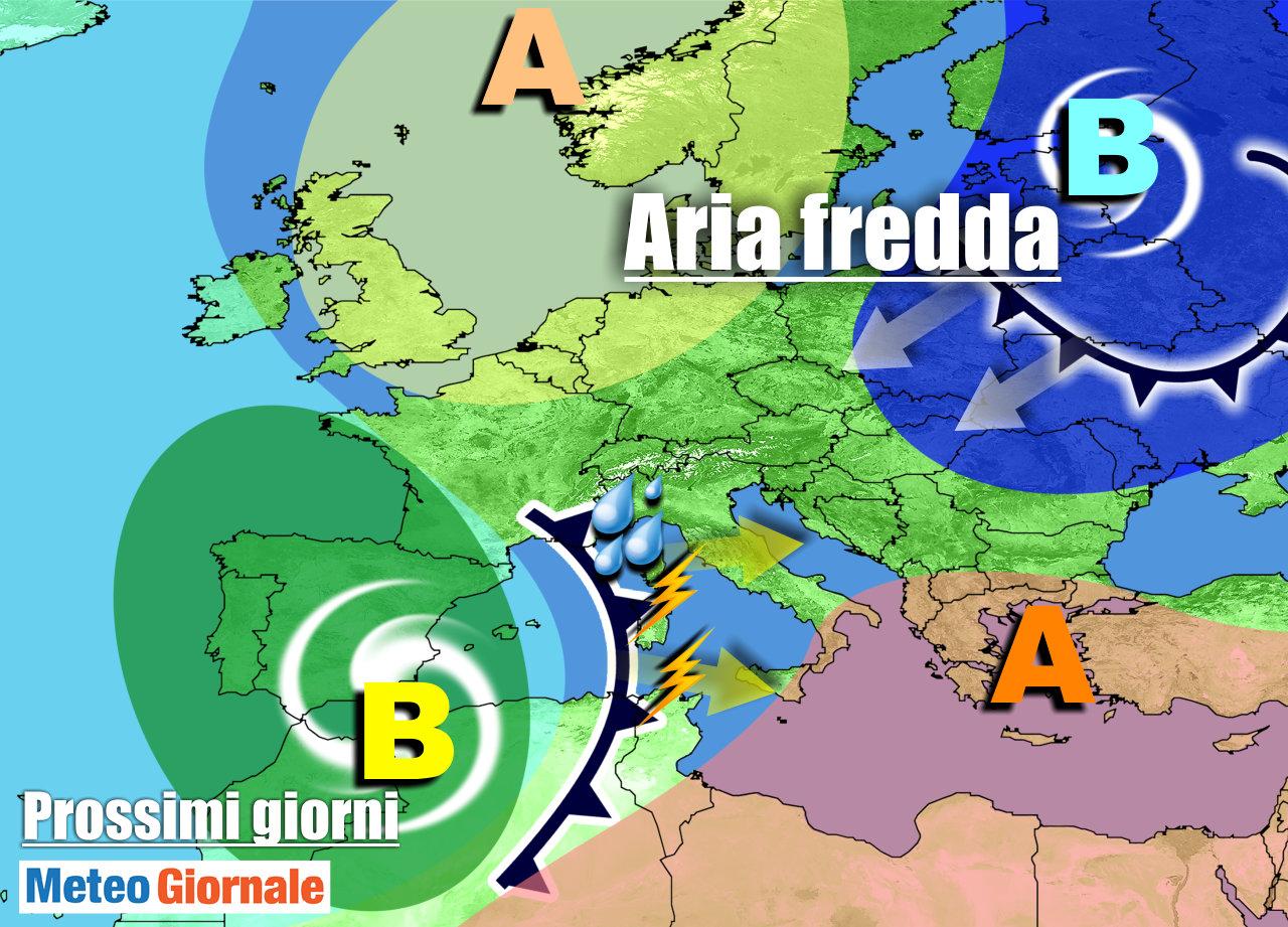 immagine 1 articolo meteo italia vortice mediterraneo portera piogge temporali