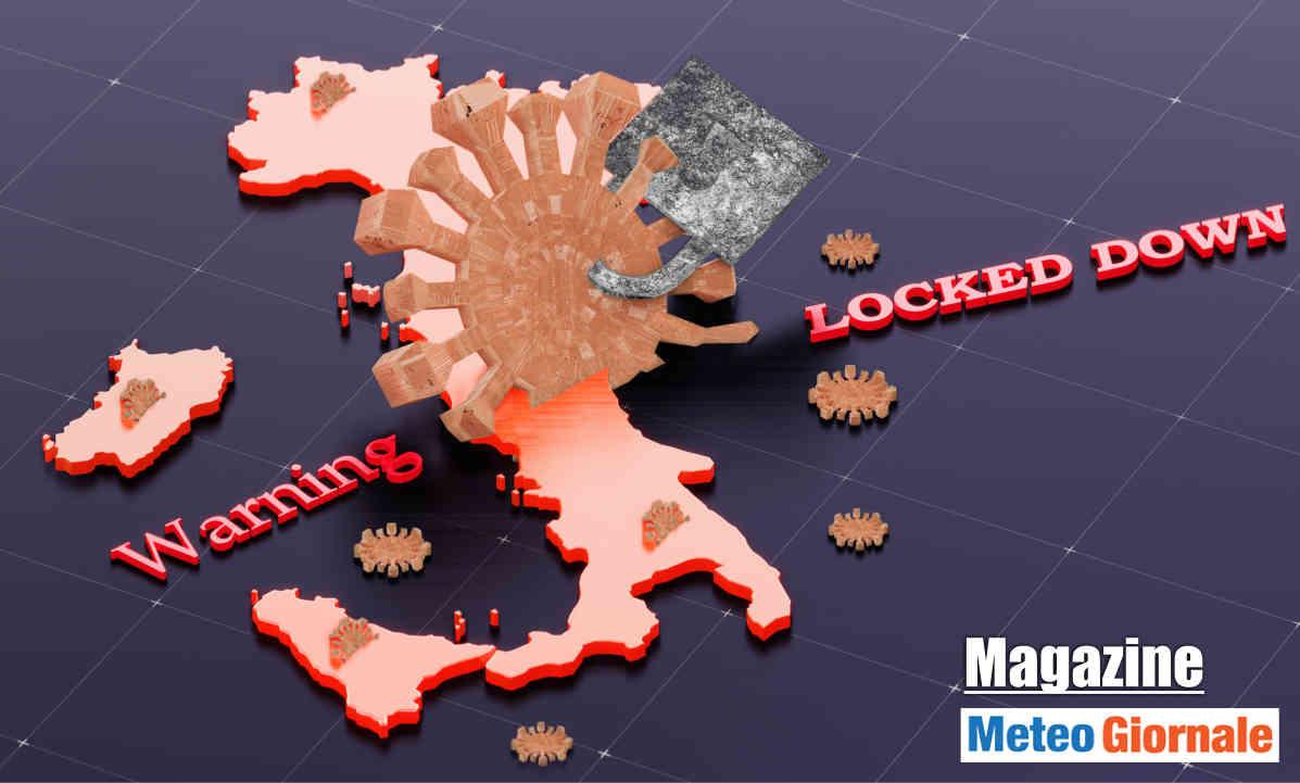 Lockdown per il Covid in Italia.