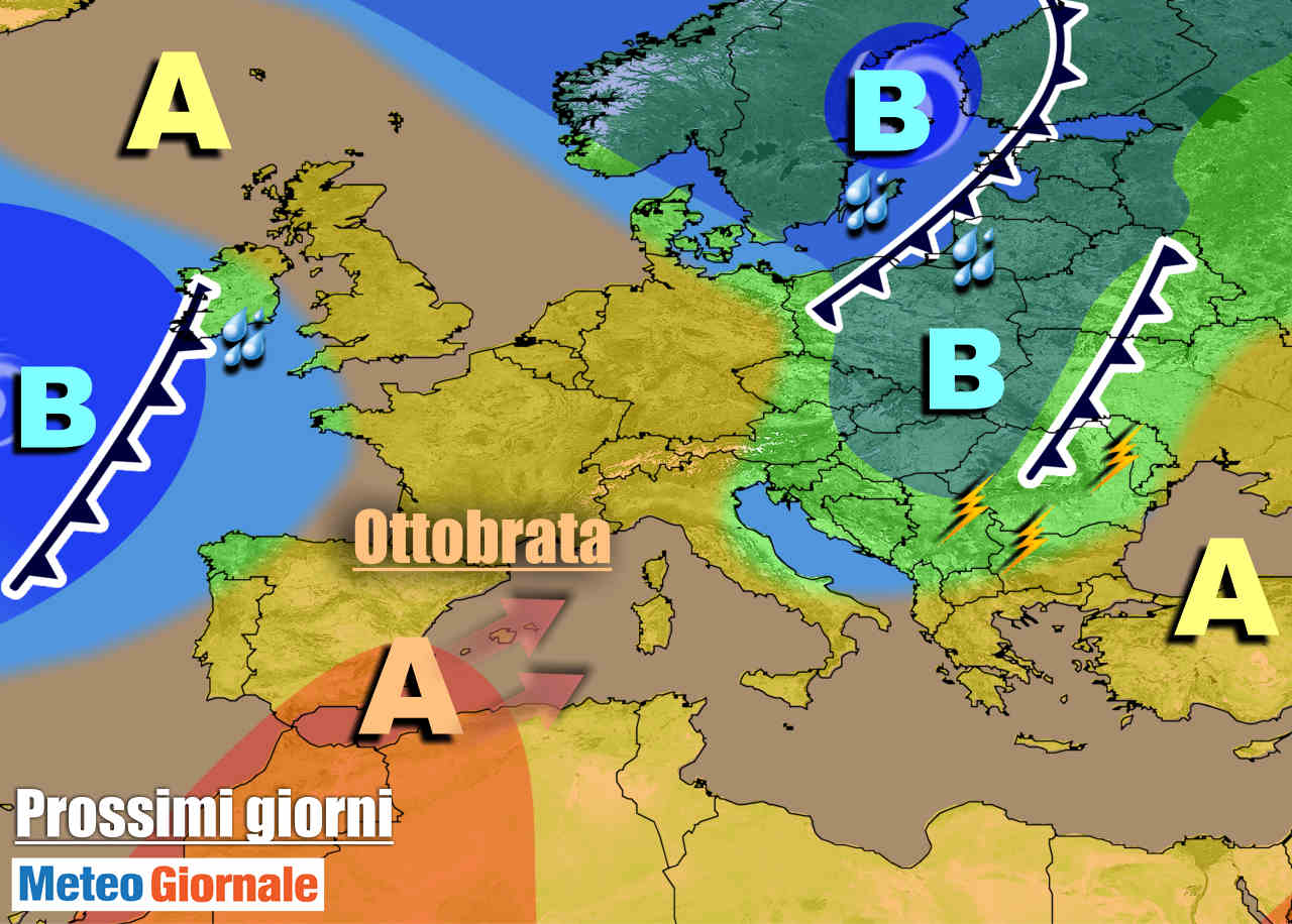 Previsioni meteo weekend