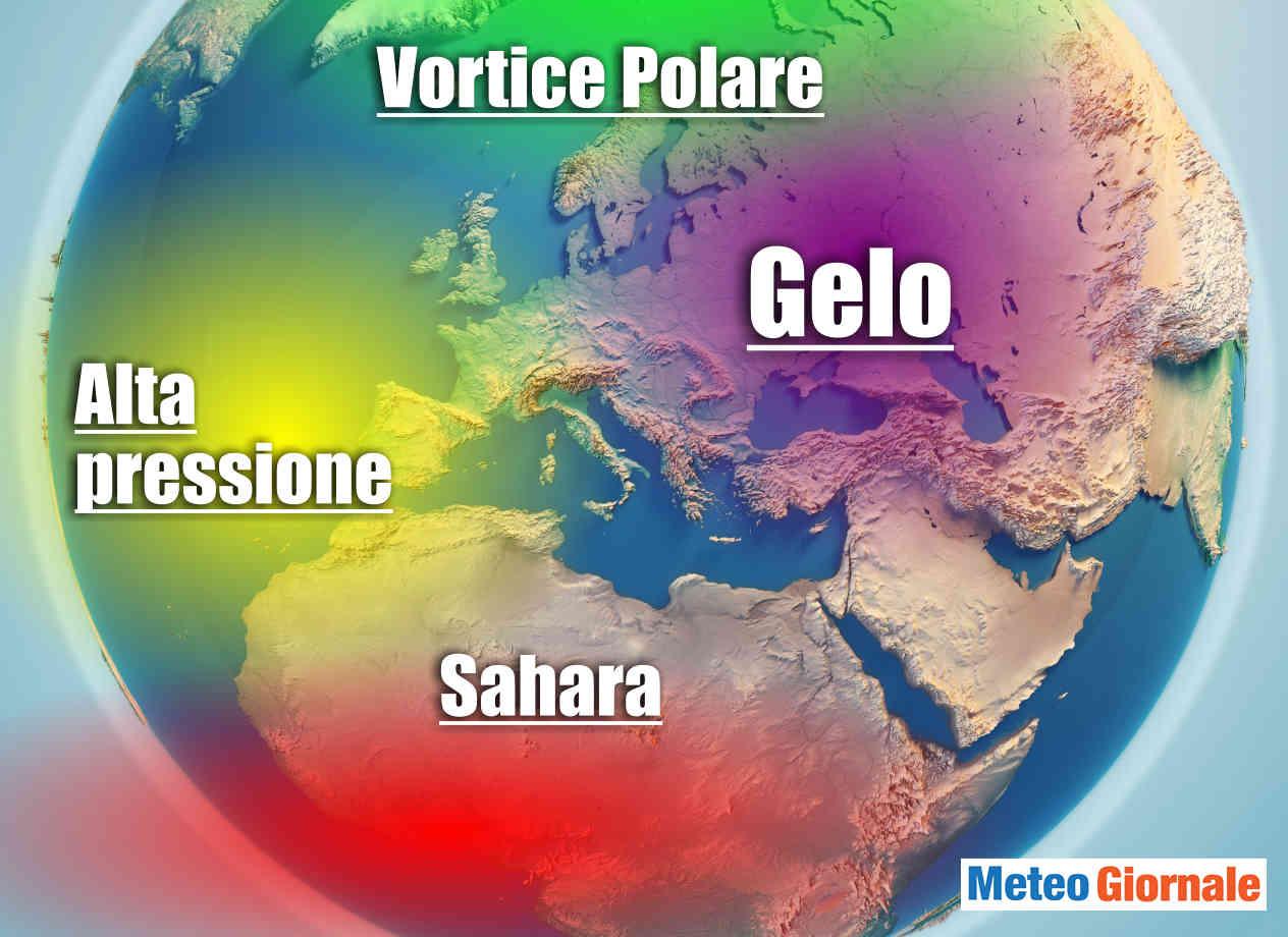 Europa caldo e siccità ma incombe il gelo.
