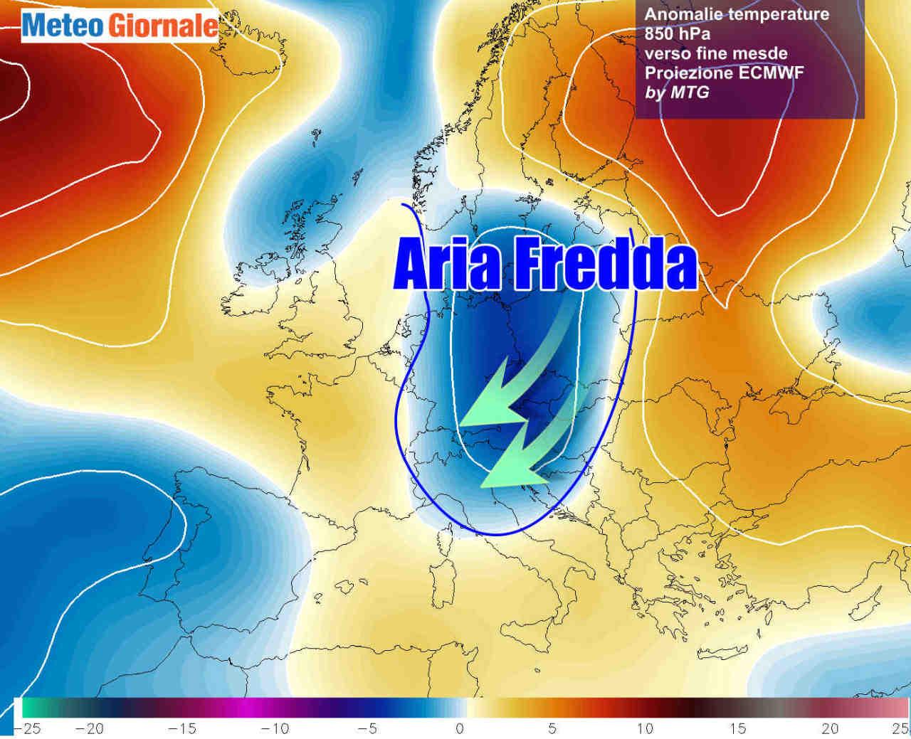 Possibili sorprese fredde attorno al 29-30 Novembre