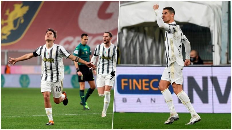 Dybala e Ronaldo show, la Juve batte il Genoa a Marassi