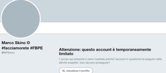 Lo strano caso dell'account del creatore di #FacciamoRete'limitato' da Twitter