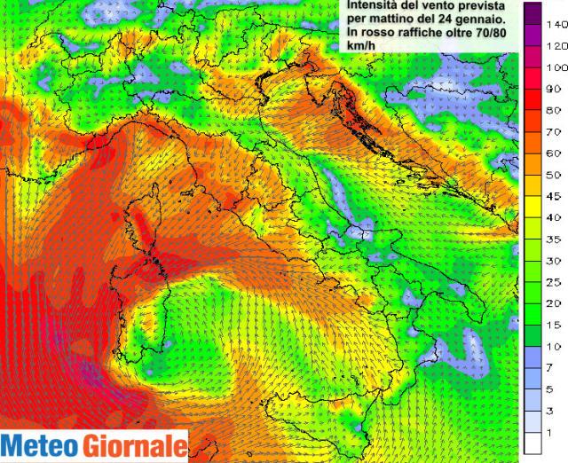 Esposizione Attorno Al Mediterraneo : Venti di tempesta innescati dal ciclone mediterraneo