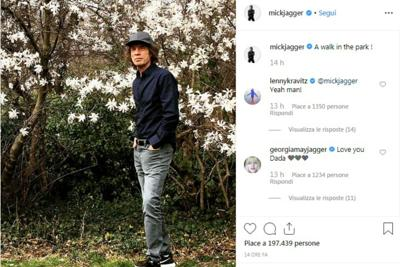 Una passeggiata nel parco, Mick Jagger dopo l'operazione